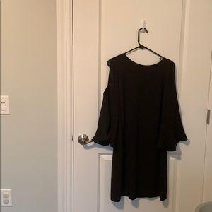 Classic black dress for maternity